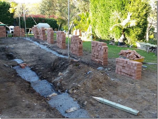 Bricks ready to be laid