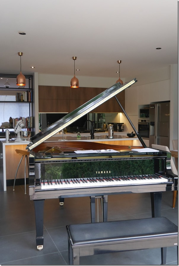 Definition of a dream kitchen ~ my beloved piano next to it ...